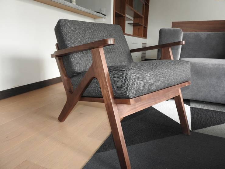 Departamento Be Grand San Angel: Salas de estilo  por TALLER TAMI