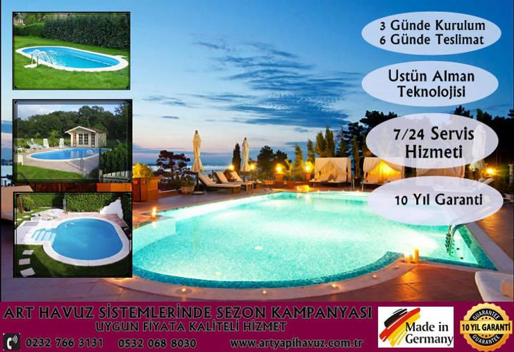 art yapi havuz sistemleri – 50m5 havuz:  tarz Bahçe, Modern