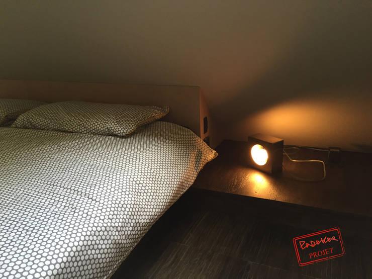 Appart sous les toits: Chambre de style  par Padeker