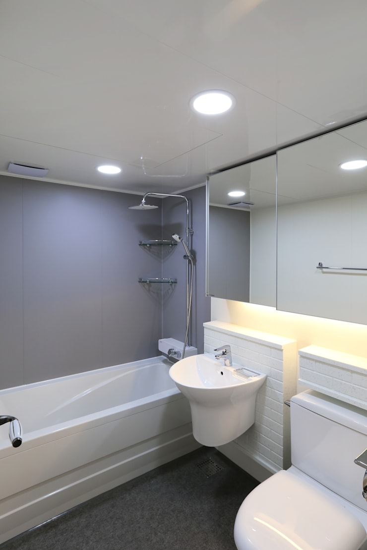 부천 중동 은하마을 48평형 아파트: 금화 인테리어 의  욕실