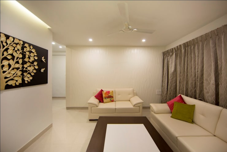 Drawing room2:  Living room by ARK Architects & Interior Designers