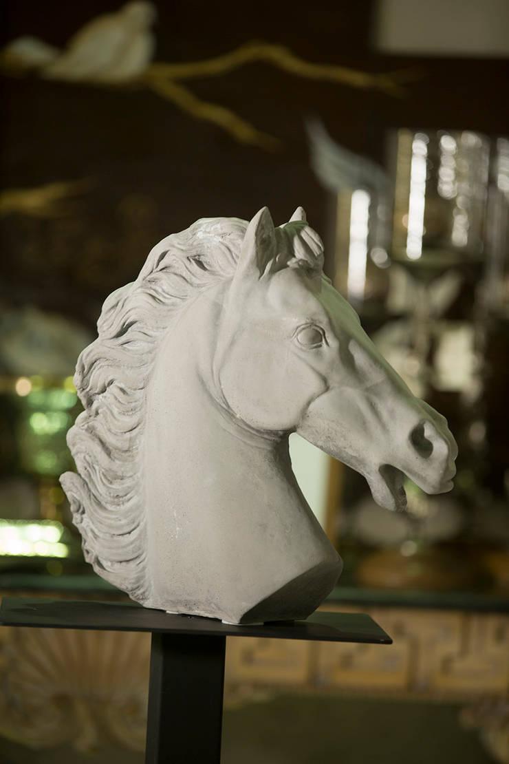 Fey Home – Gri mermerit, tamamıyla sanatçı yorumu ile yapılmış heykel: modern tarz , Modern