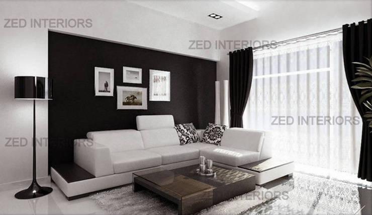 modern Living room by ZED Associates Pvt. Ltd.
