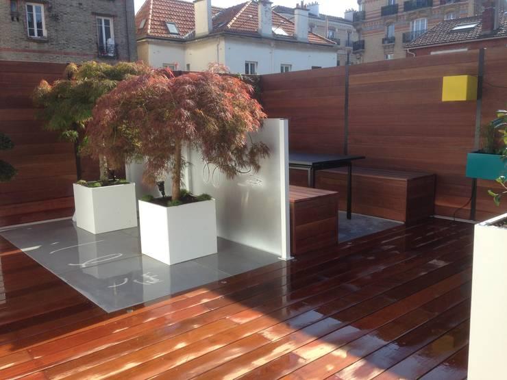 Projekty,  Taras zaprojektowane przez Scènes d'extérieur