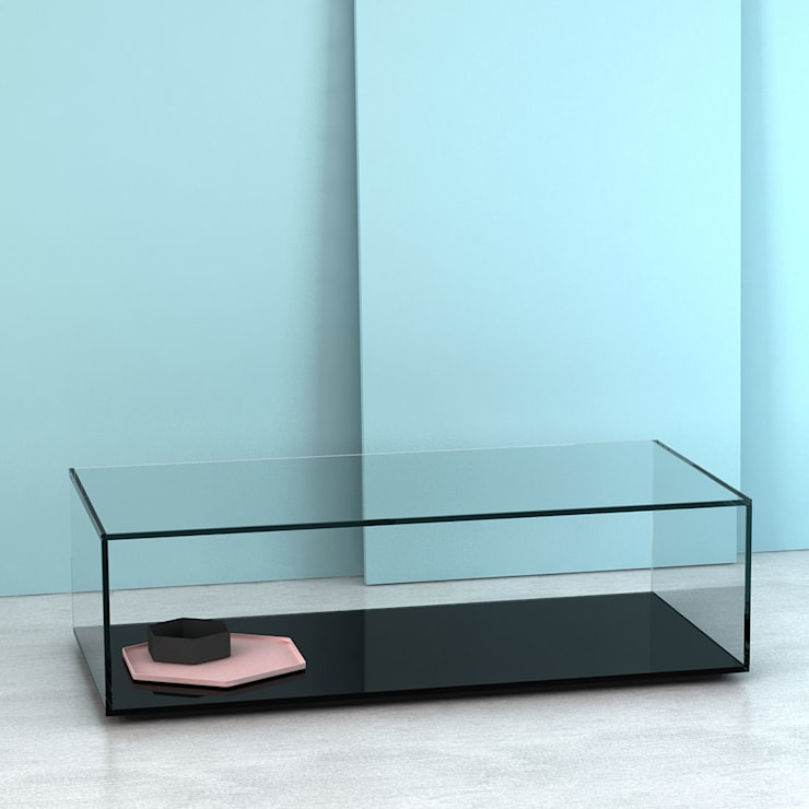 Living room تنفيذ Klarity Glass Furniture