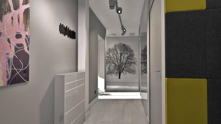 Mieszkanie w bloku z wielkiej płyty, Polkowice: styl , w kategorii Korytarz, przedpokój zaprojektowany przez Designbox Marta Bednarska-Małek