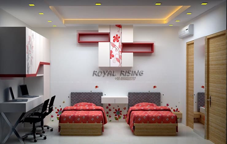 Chambre de style  par Royal Rising Interiors,