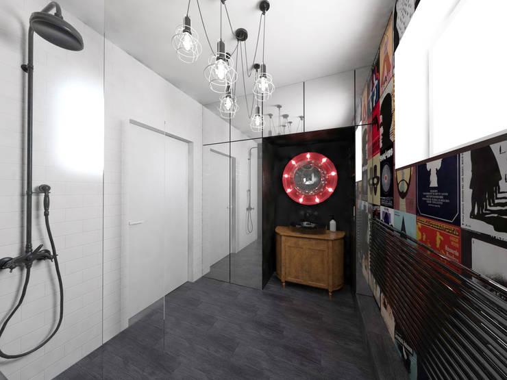 """""""Filmowa"""" łazienka: styl , w kategorii Łazienka zaprojektowany przez OHlala Wnętrza,Eklektyczny"""