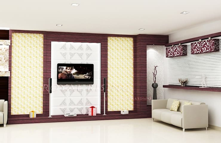 Living Area Designs:  Living room by Royal Rising Interiors