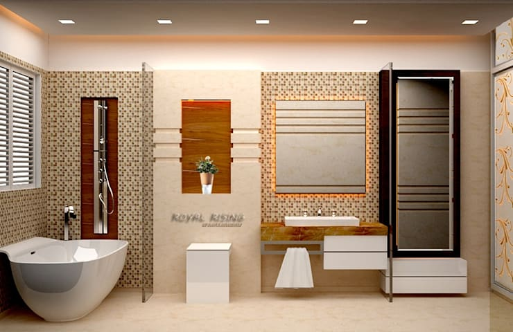 Interior Designs: modern Bathroom by Royal Rising Interiors