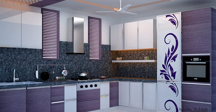 Interior Designs:  Kitchen by Royal Rising Interiors