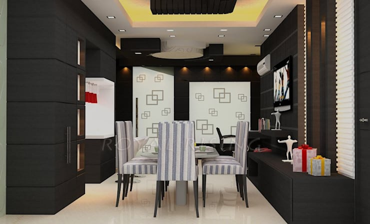 Interior Designs: modern Dining room by Royal Rising Interiors