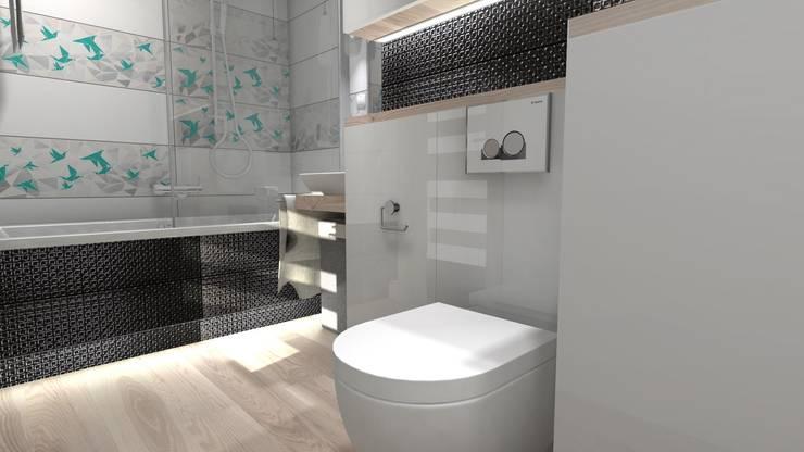 Jasna łazienka: styl , w kategorii  zaprojektowany przez Designbox Marta Bednarska-Małek
