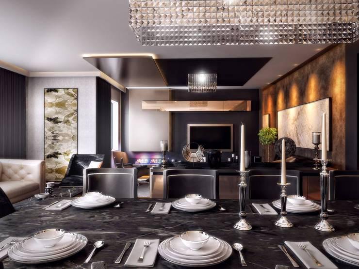 VERO CONCEPT MİMARLIK – Kalafatoğlu Konut: modern tarz Oturma Odası