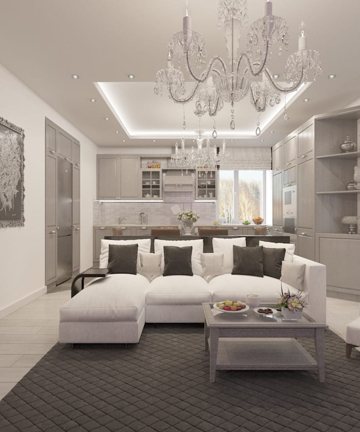 Salon classique par Студия дизайна Виктории Силаевой Classique