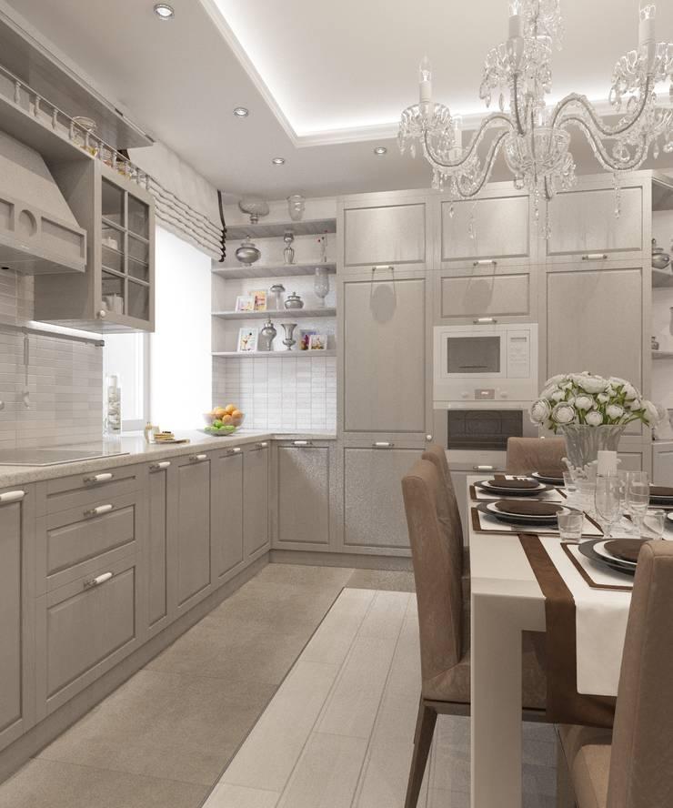 Cuisine classique par Студия дизайна Виктории Силаевой Classique