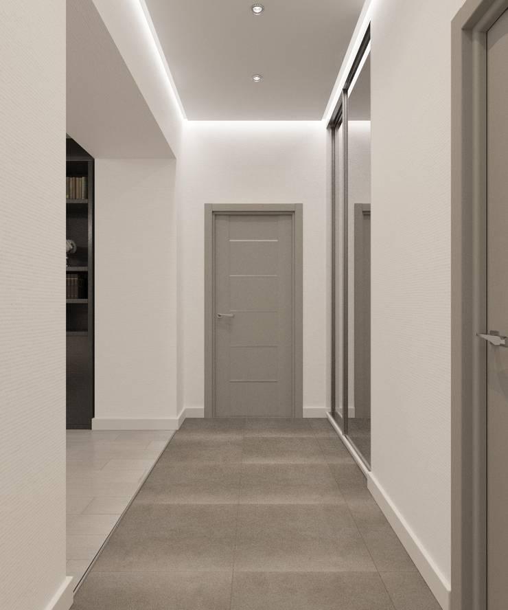 Couloir, entrée, escaliers classiques par Студия дизайна Виктории Силаевой Classique