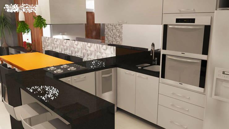 Cozinha Americana: Cozinhas  por Arquiteto Virtual - Projetos On lIne,