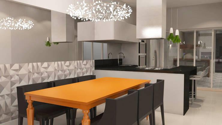 Sala de Jantar: Salas de jantar  por Arquiteto Virtual - Projetos On lIne,
