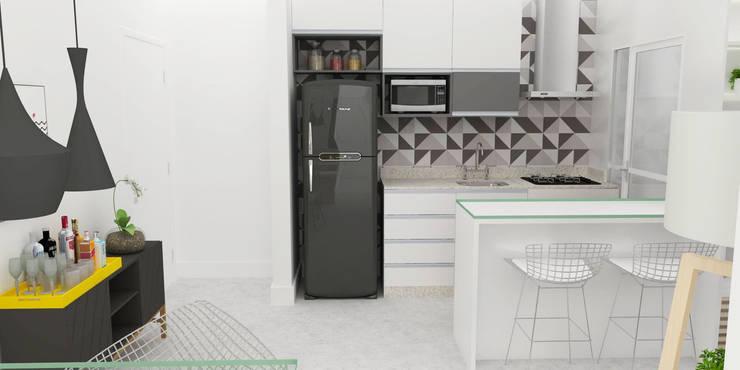 Kitchen by Arquiteto Virtual - Projetos On lIne, Modern