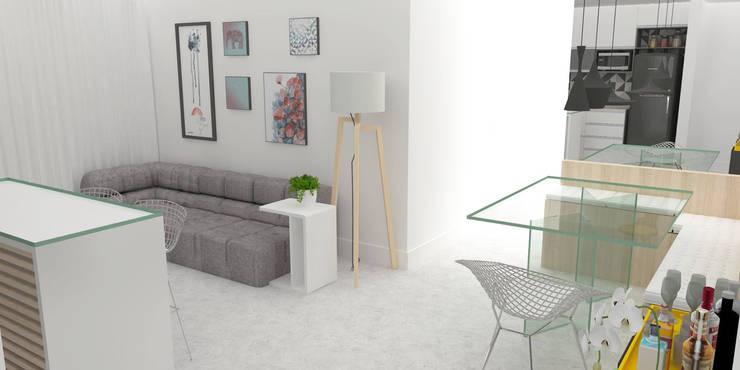 Living room by Arquiteto Virtual - Projetos On lIne, Modern