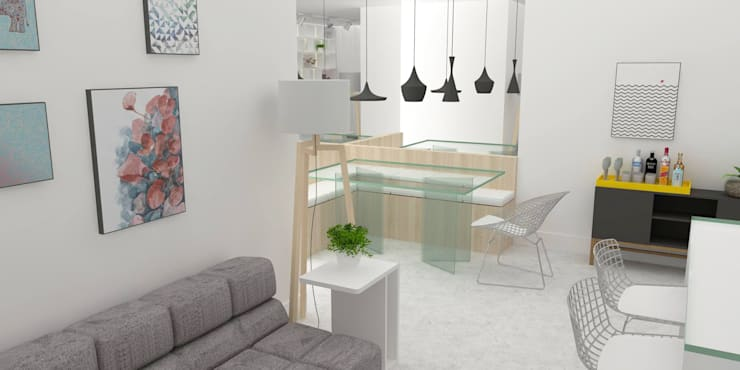 Dining room by Arquiteto Virtual - Projetos On lIne, Modern