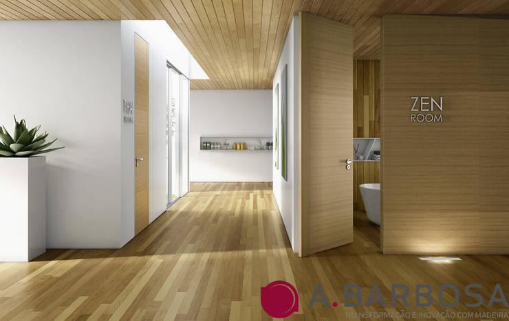 Ambiente em Kambala e Carvalho: Corredor, hall e escadas  por A.Barbosa