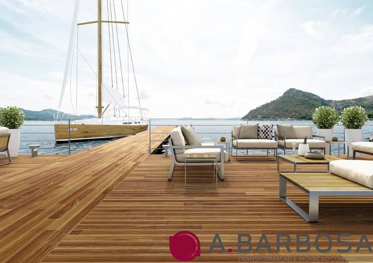 Deck Cumaru: Varanda, marquise e terraço  por A.Barbosa