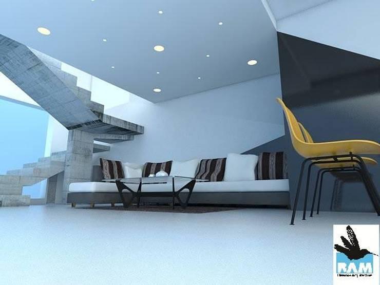 Arquitectura: Salas / recibidores de estilo  por Estudio BAM