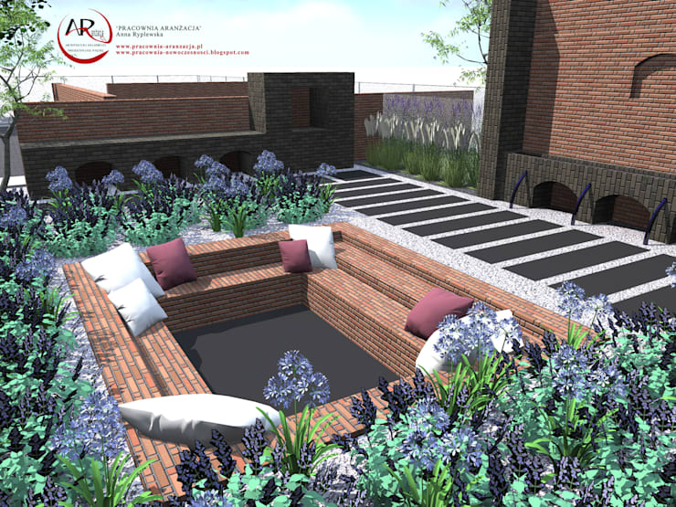 Jardins  por PRACOWNIA ARANŻACJA ANNA RYPLEWSKA, Moderno