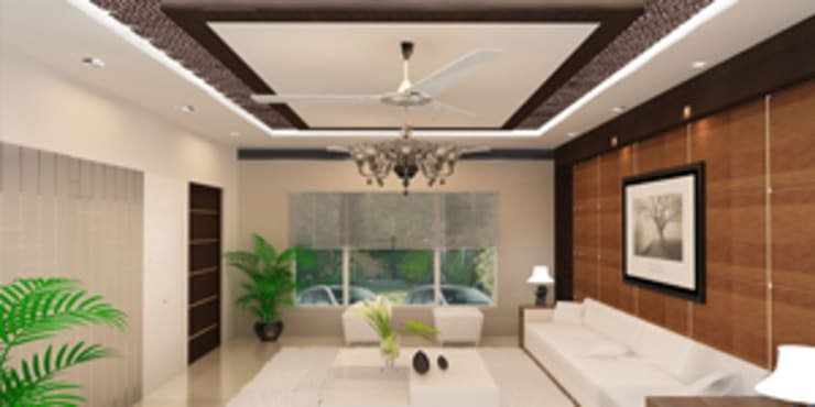 Drawing Room :  Living room by EXOTIC FURNITURE AND INTERIORS