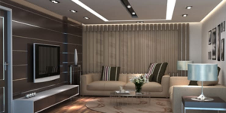 Living Room Designs:  Living room by EXOTIC FURNITURE AND INTERIORS