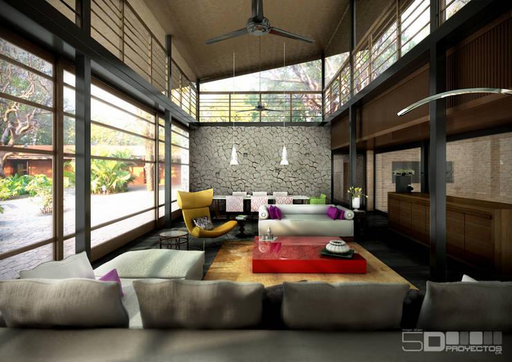 Brick Kilm House:  de estilo  por 5D Proyectos