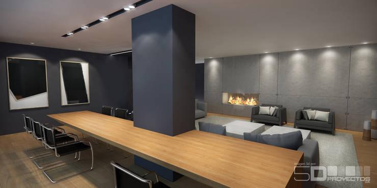 Salón :  de estilo  por 5D Proyectos