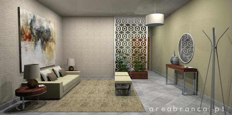 Hall Entrada: Corredores e halls de entrada  por Areabranca