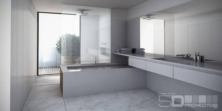 Baño:  de estilo  por 5D Proyectos