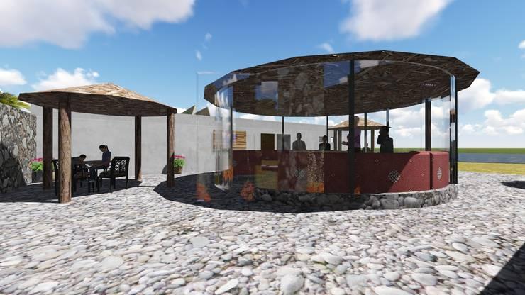 Complejo Turístico: Lo Mejor de la Costa Balcones y terrazas rústicos de JRF arquitectura Rústico Madera Acabado en madera