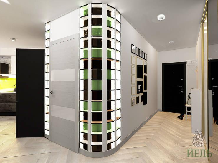 Квартира в стиле лофт на Абытаевской: Коридор и прихожая в . Автор – Студия дизайна интерьера 'ЙЕЛЬ'