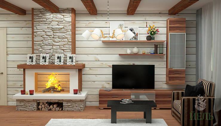 Salas / recibidores de estilo  por Студия дизайна интерьера 'ЙЕЛЬ'