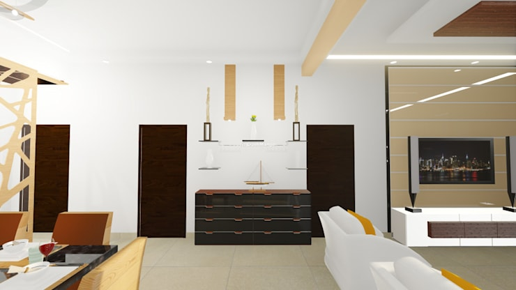 Residential Interiors:  Living room by Crush Mango