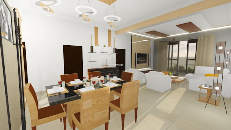 Residential Interiors: modern Dining room by Crush Mango