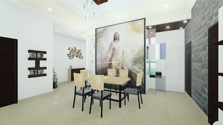Residential Interiors:  Dining room by Crush Mango