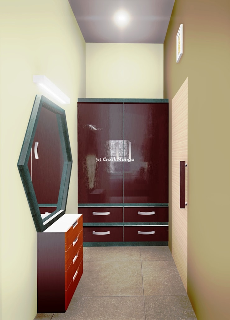 Residential Interiors:  Dressing room by Crush Mango