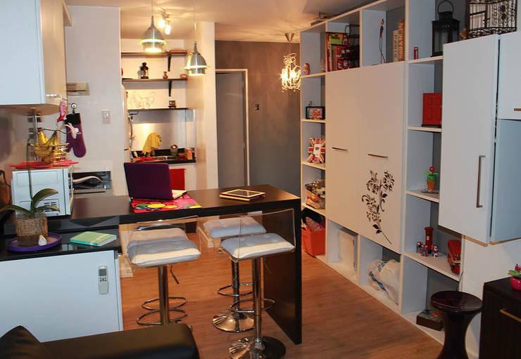 APTO V+V. TERRAZAS DE CLUB HÍPICO: Oficinas de estilo  por AL + ARQUITECTURA