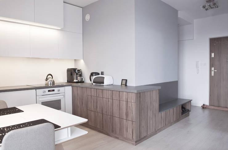 MIESZKANIE KATOWICE: styl , w kategorii Kuchnia zaprojektowany przez Projektowanie Wnętrz Agnieszka Noworzyń,Nowoczesny