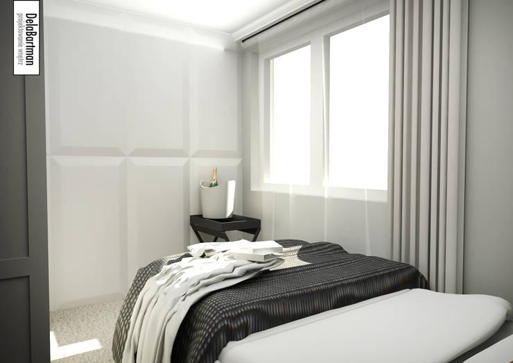 Mieszkanie inspirowane stylem Hampton: styl , w kategorii Sypialnia zaprojektowany przez DelaBartman