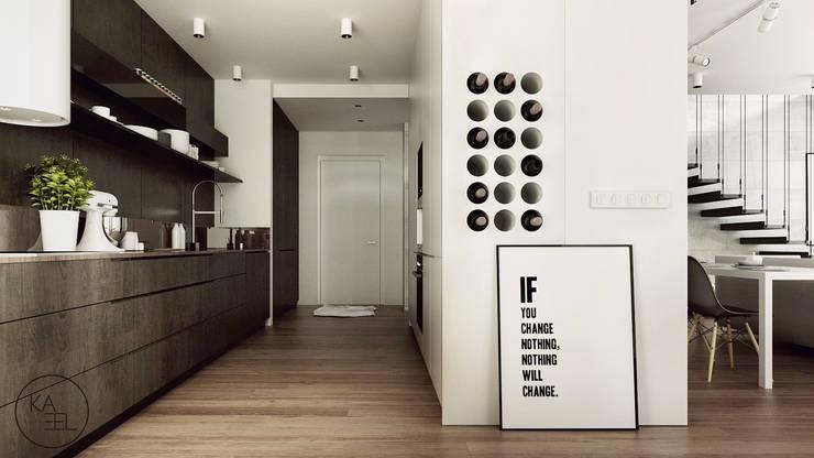 KOLEJOWA: styl , w kategorii Kuchnia zaprojektowany przez KAEL Architekci,Nowoczesny Płyta MDF