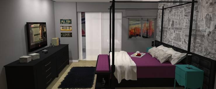 Bedroom by Studio 15 Arquitetura, Eclectic