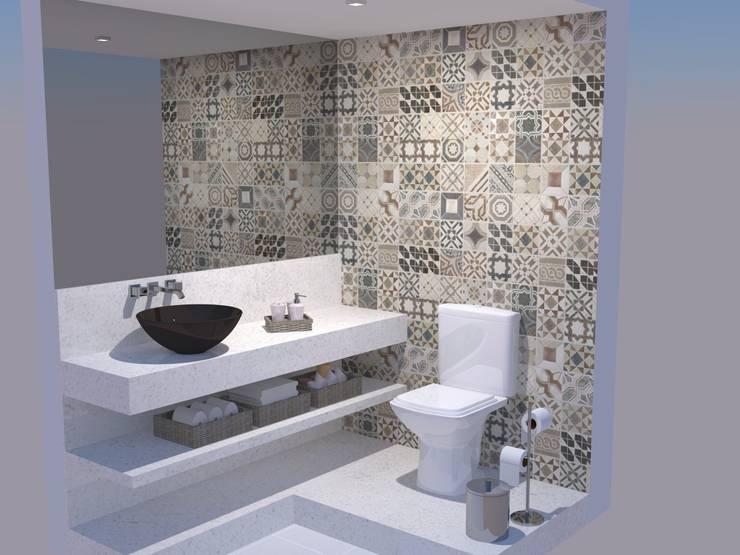 Salle de bains de style  par Studio 15 Arquitetura, Éclectique