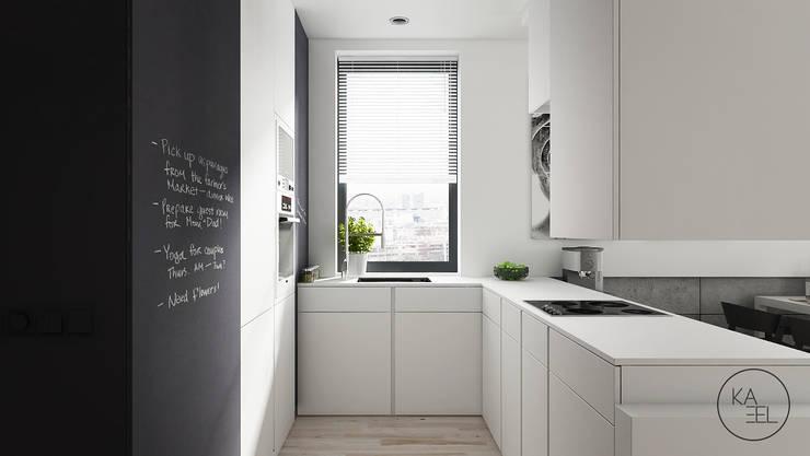 OGRODOWA: styl , w kategorii Kuchnia zaprojektowany przez KAEL Architekci